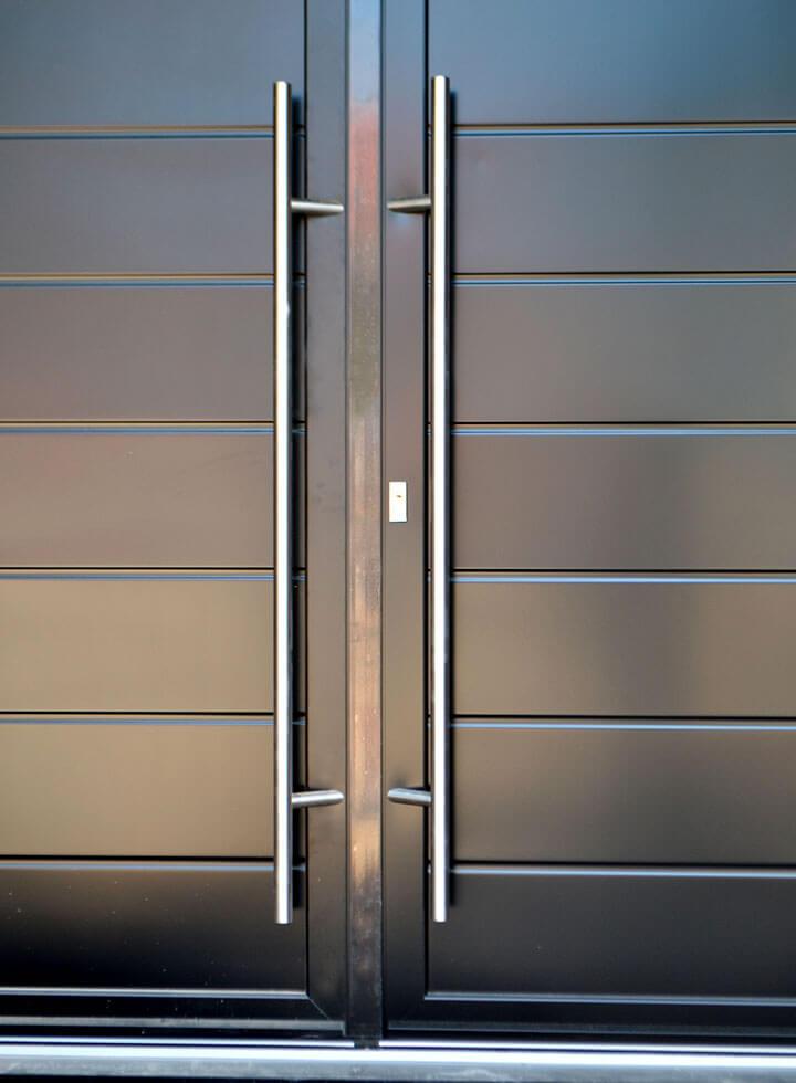 ... Dual black aluminium entrance door close up ... & Residential Entrance Doors | Alu-tec UK Ltd