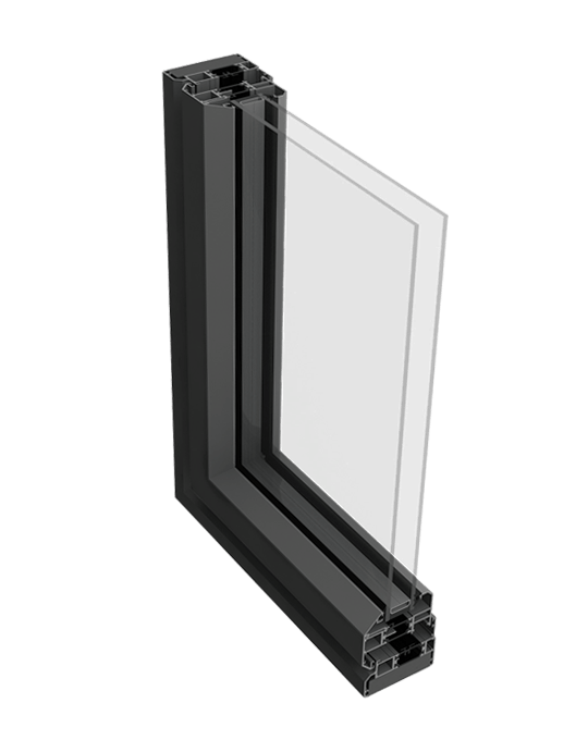 Aluminium casement window profile