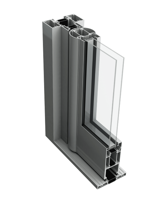 Aluminium commercial door profile