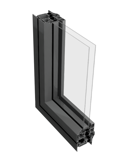 Aluminium reversible window profile