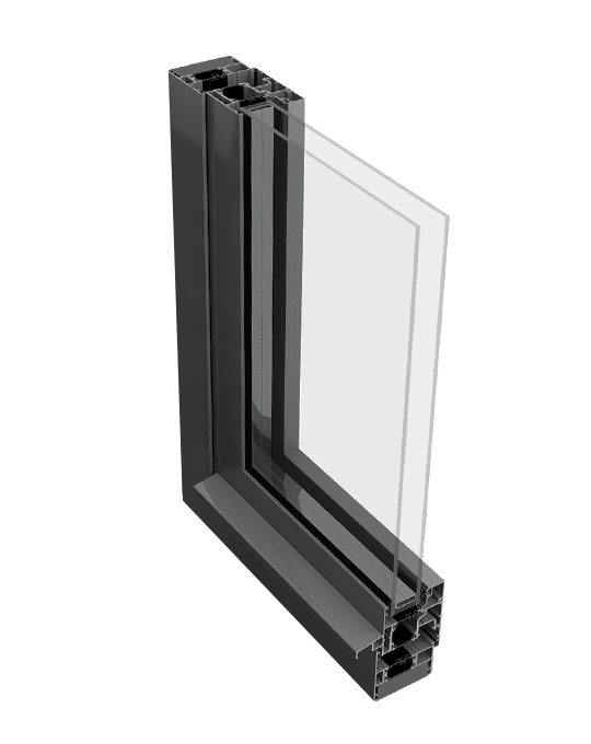 Aluminium tilt and turn window profile