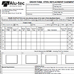 Steel Replacement Window Order Form