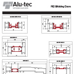 F82 Bifolding Doors Profile Chart