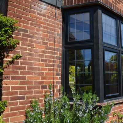 Black Aluminium Bay Window