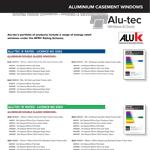 Alu-tec Energy Ratings